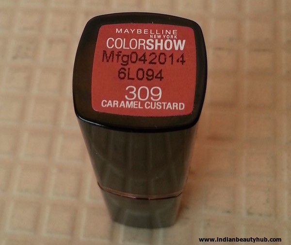 Maybelline Color Show Caramel Custard 309 Lipstick Review