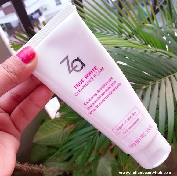 Za True White Cleansing Foam Review 3