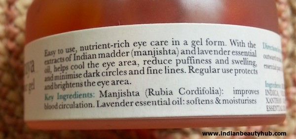 Iraya Manjistha Eye Contour Gel Review 2