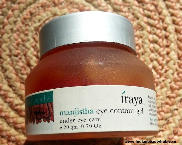 Iraya Manjistha Eye Contour Gel Review, swatch