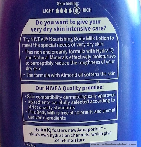 Nivea Nourishing Body Milk with Almond Oil Review 7