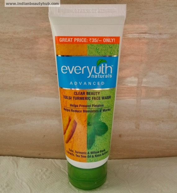 Everyuth Tulsi Turmeric Face Wash Review, Price 2