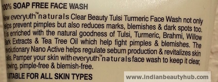 Everyuth Tulsi Turmeric Face Wash Review, Price 5