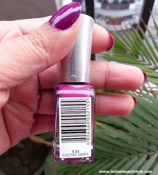 Lotus Herbals Ecostay Electric Grape Nail Review