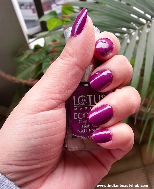 Lotus Herbals Ecostay Electric Grape Nail Review 10