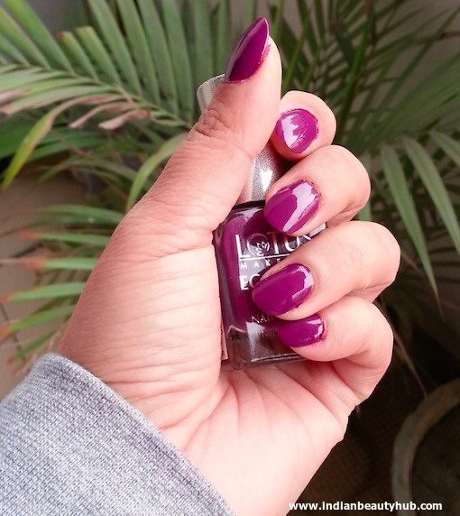 Lotus Herbals Ecostay Electric Grape Nail Review 4