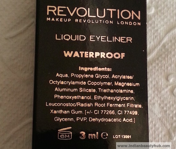 Makeup Revolution Waterproof Liquid Eyeliner Review 6