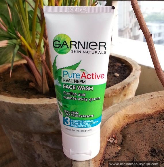 New Garnier Pure Active Real Neem Face Wash Review
