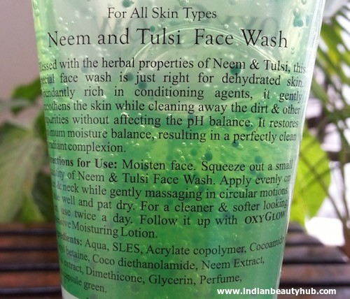 Oxyglow Neem & Tulsi Face Wash Review 4