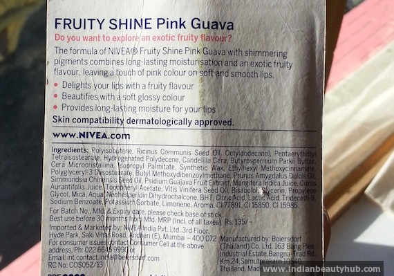 nivea fruity shine pink guave review 3
