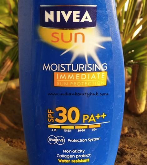 Nivea Sun Moisturising Immediate Sun Protection SPF 30 PA++ Review