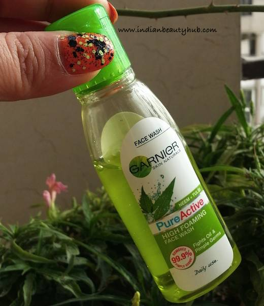 Garnier Pure Active Neem+Tulsi High Foaming Face Wash Review 4