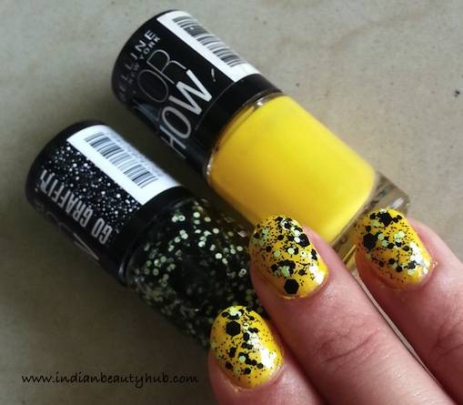 Maybelline Go Graffiti Unmellow Yellow Nail Paint Review 7