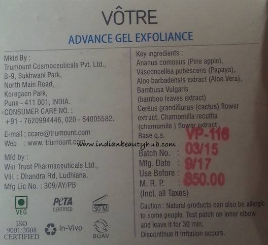 Votre Advance Gel Exfoliance Review 6