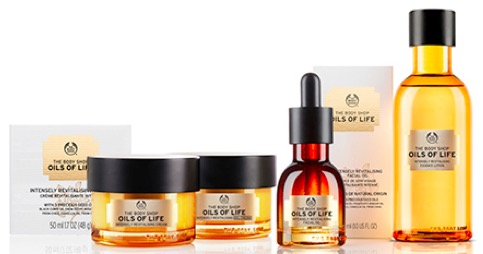 The Body Shop Oils of Life Intensely Revitalising Skin Care Range