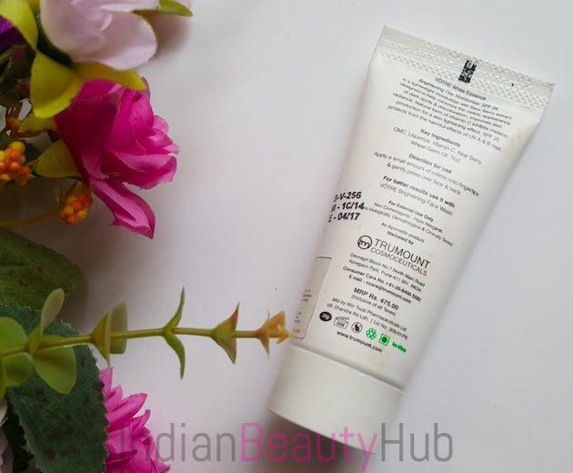 Votre White Essence Brightening Day Moisturiser SPF 25 Review_2