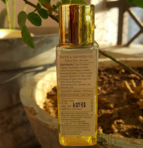 Forest Essentials Bath & SHower Oil Indian Rose Absolute Review_1