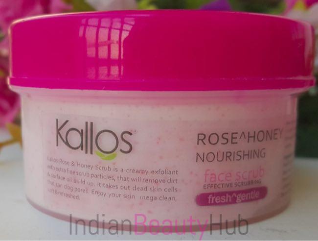 Kallos Rose & Honey Nourishing Face Scrub Review_1