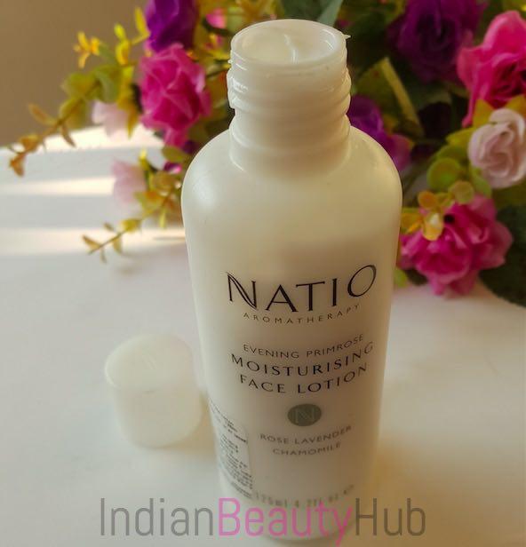 Evening primrose facial lotion natural