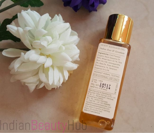 Forest Essentials Body Massage Oil Indian Rose & Geranium review_1