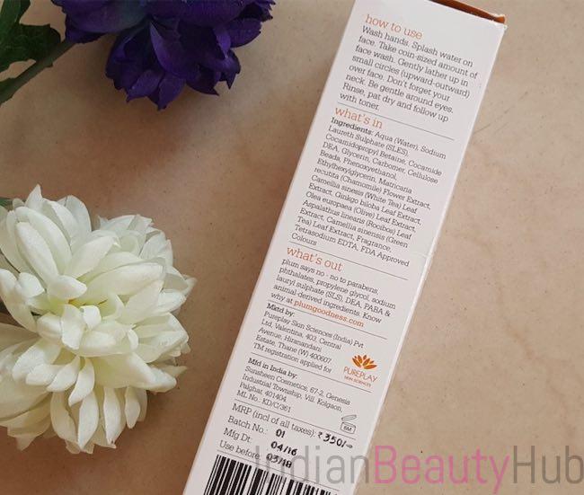 Plum Chamomile & White Tea Skin Revival Face Wash Review_8
