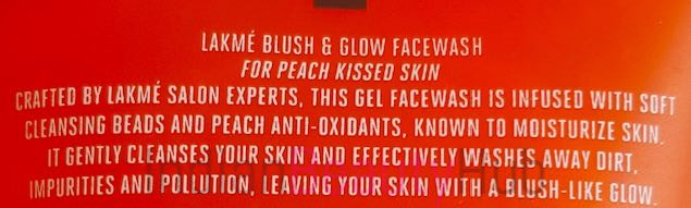 Lakme Blush & Glow Peach Face Wash Review_8