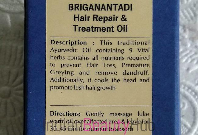 Blue Nectar Briganantadi Hair Repair & Treatment Oil Review_3
