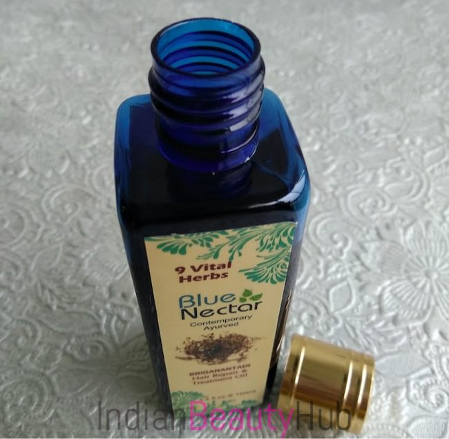 Blue Nectar Briganantadi Hair Repair & Treatment Oil Review_7