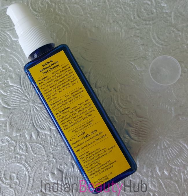 Blue Nectar (Shubhr) Radiance Honey Face Cleanser Review_2