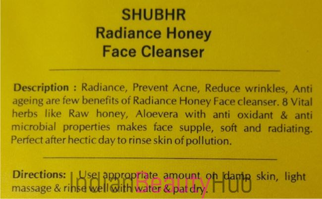 Blue Nectar (Shubhr) Radiance Honey Face Cleanser Review_6