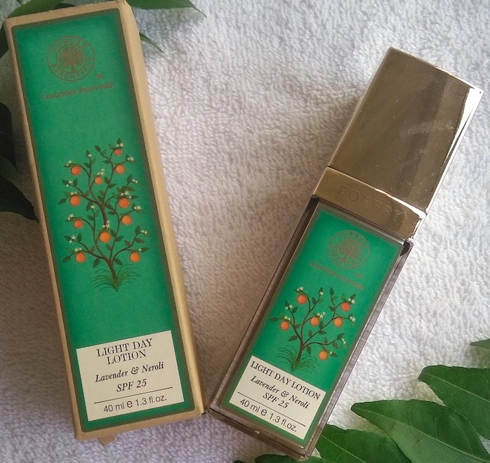 Forest Essentials Lavender & Neroli Light Day Lotion with SPF 25 Review