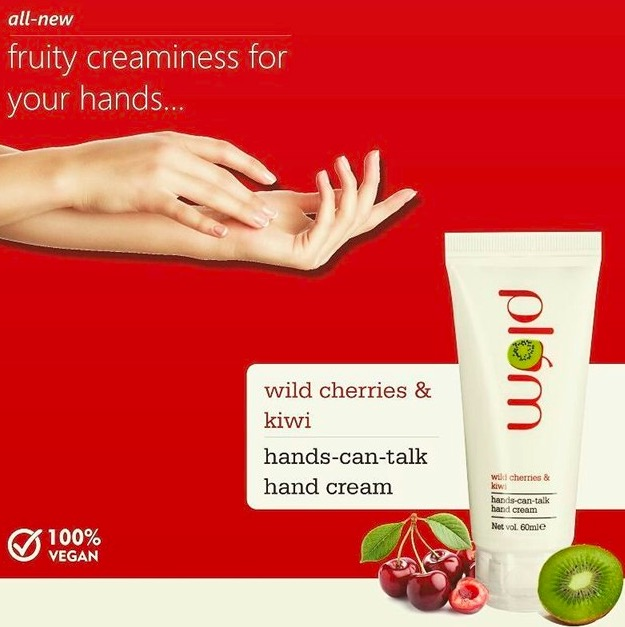 Plum Wild Cherries & Kiwi Hands Can Talk Hand Cream