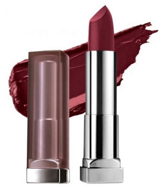 Maybelline Color Sensational Creamy Matte Lipstick Burgundy Blush