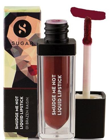 SUGAR Smudge Me Not Liquid Lipstick 01 Brazen Raisin