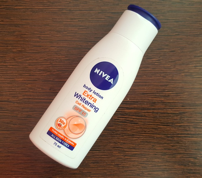 Nivea Extra Whitening Cell Repair Body Lotion with SPF 15 Review