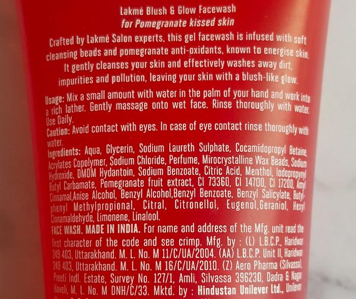 Lakme Blush & Glow Pomegranate Face Wash Review