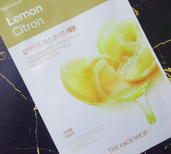 The Face Shop Real Nature Lemon Sheet Face Mask Review
