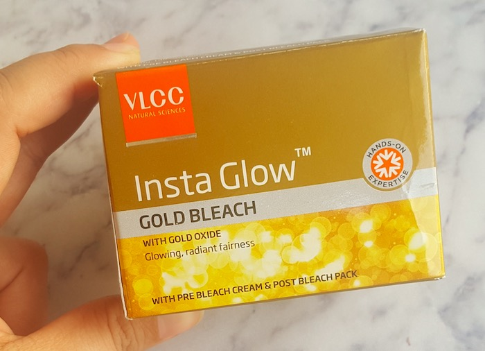 VLCC Insta Glow Gold Bleach Review - How to use Bleach Cream
