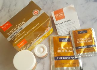 VLCC Insta Glow Gold Bleach Review