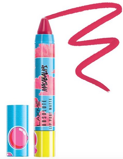 Lakme Absolute Lip Pout Matte Masaba Lips in Hot Bubble Pink