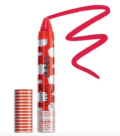 Lakme Absolute Lip Pout Matte Masaba Lips in Smoky Red