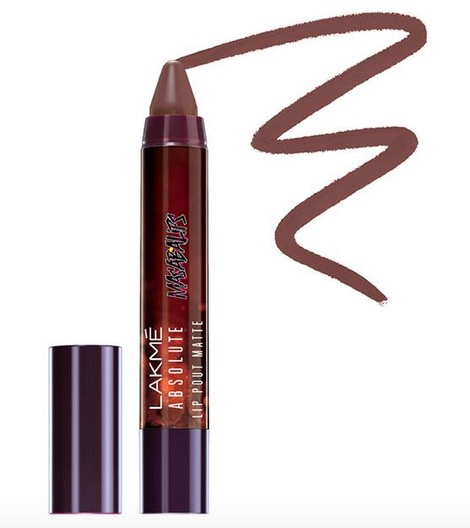 Lakme Absolute Lip Pout Matte Masaba Lips in Caramel Toffee