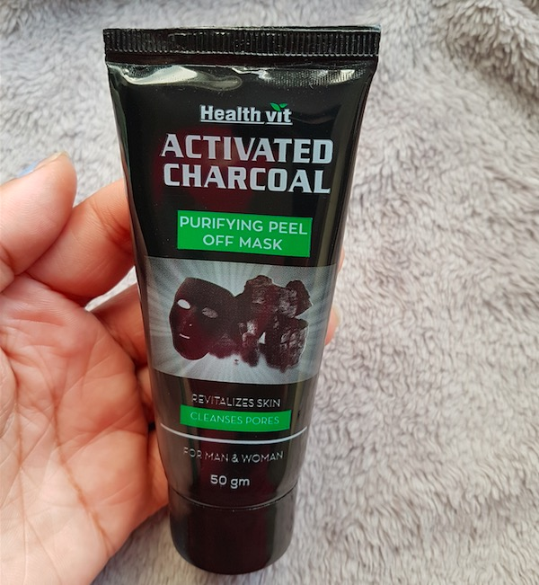 Health Vit Activated Charcoal Purifying Peel Off Mask Review