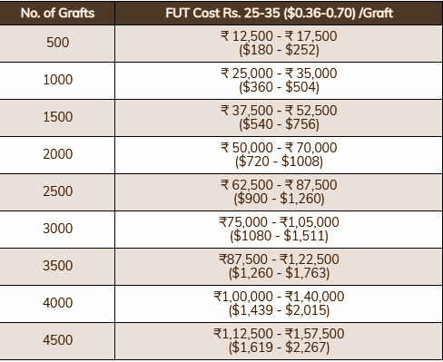 FUT Hair Transplant Cost in India