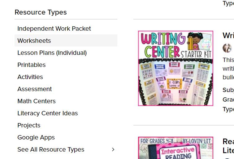 TPT Free Printable Worksheets